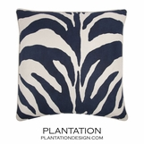 Wild Side Linen Pillow | Blue