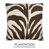 Wild Side Linen Pillow | Brown