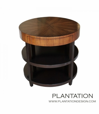 Petra Side Table, Round w/Drawer