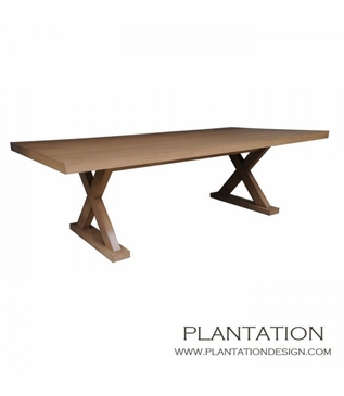 Double X Dining Table