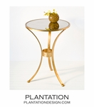 Leslie Side Table | Gold
