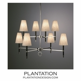 Loophole Chandelier | Ebony & Nickel