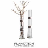 Belted Narrow Glass Vases