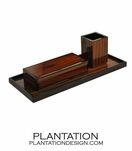 Lacquered Desk Set | Rosewood