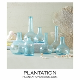 Recycled Vases Set | Baby Blue