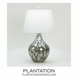 Essex Silvered Glass Lamp