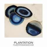 Bahia Agate Coasters | Blue & Gold