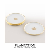 Stellar Coasters Set | White & Gold