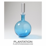 Bacchus Glass Decanter | Blue