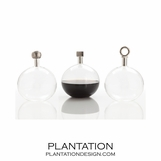 Sawtelle Decanters | Polished Nickel
