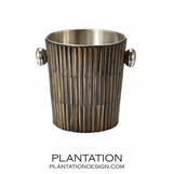 Striped Horn Ice Bucket