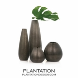 Moonrock Etched Vases | Bronze
