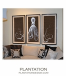 Triptych Octopus | Brown