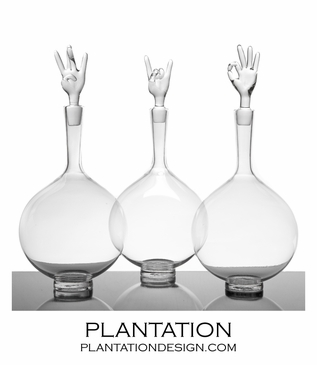 Gestures Hand-Blown Decanters
