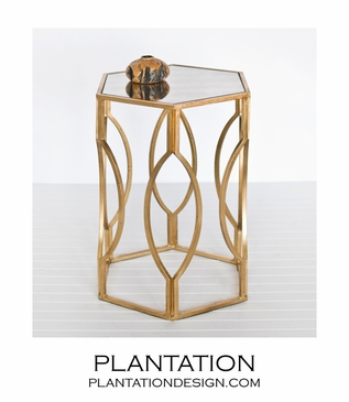 Tangier Side Table | Gold