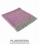 Ashleigh Alpaca Throw | Purple