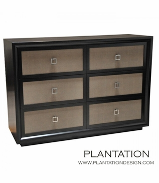 Mercer Dresser, Stained w/Fabric Fronts