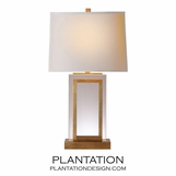 Piazza Crystal Table Lamp | Burnished Brass