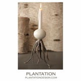 Octo Taper Candleholder | Silver
