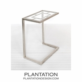 Brandon Side Table | Warm Silver