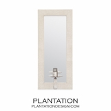 Deborah Mirrored Sconce | Ivory