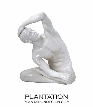 Stretching Male Statue No. 1