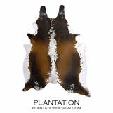 Cowhide Rug | Black, Brown & White