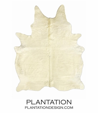 Cowhide Rug | Solid Off-White