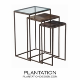 Argent Nesting Tables Set | Tall