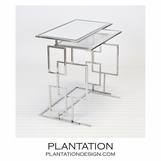 Kaplan Nesting Tables | Stainless Steel