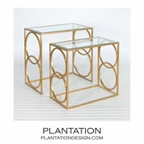 Malden Nesting Tables | Gold