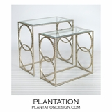 Malden Nesting Tables | Warm Silver