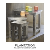 Marlow Silver Nesting Tables | Set of 3