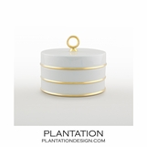 Ovar Finial Box | White & Gold