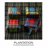 Plaid Porcelain Boxes Set