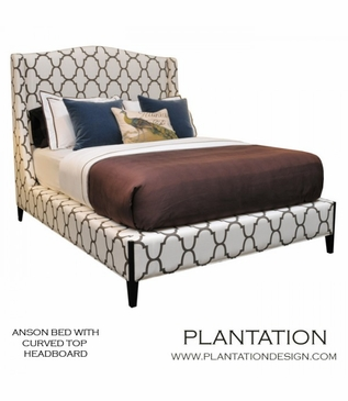 Anson Bed, Curved Headboard