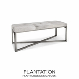 Rodeo Hide Bench | Grey