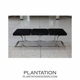 Traveler Leather Bench | Black
