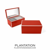 Lacquer Jewelry Box | Bright Red