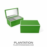 Lacquer Jewelry Box | Kelly Green