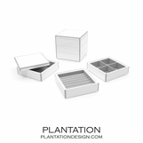 Lacquer Stacked Jewelry Box | White
