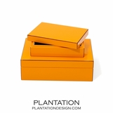 Lacquer Storage Boxes Set | Orange