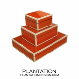 Lacquered Boxes | Vibrant Orange