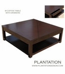 M Square Coffee Table | 4-Drawer
