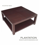 M Square Coffee Table, Stained