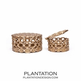Richie Brass Boxes | Set of 2