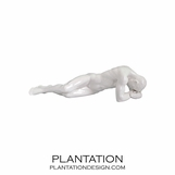 Resting Male Statue | Glossy