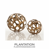 Kam Sphere Sculptures | Brass