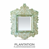 Cutout Capiz Mirror | Green