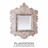 Cutout Capiz Mirror | Tea